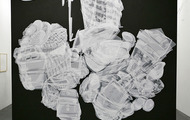 <p>Mom's Closet, Layered Mylar cut out, 12' x 11', 2007</p>