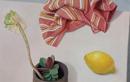 <p><em>Untitled (Composition with Lemon)</em>, acrylic on canvas, 21 x 16 inches, 2012</p>