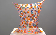 "<p>Glass Pillow / 2013 / Plexiglass / 23 x 20 x 12""</p>"