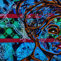 """<p><em>Inside Out 2</em>, 2011, 8""""x10"""", Ink, acrylic, screenprint, ink transfer, and glass etching on three panes of glass.</p>"""