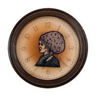 "<p><em>The Hours 3</em>, 2009, 9""diam. Ink, acrylic and polyurethane in clock.&nbsp;</p>"