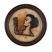 "<p><em>The Hours 1</em>, 2009, 9""diam. Ink, acrylic and polyurethane in clock.&nbsp;</p>