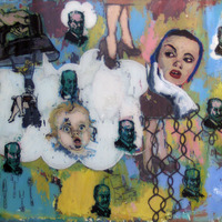 """<p><em>If It's Not One Thing, It's Your Mother</em>, 2005, 26""""x32"""", Ink and acrylic on two panes of glass.</p>"""