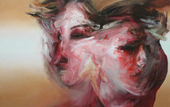 """<p>What do you think of me now?   28"""" x 42""""  oil on canvas  2013</p>"""