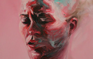 """<p>Pink Exertion 24"""" x 24"""" oil on canvas  2012</p>"""