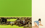 <p><em>Wilderness Retreat/Beijing Green/Fun in the Sun</em>, 2005, 68 x 144 inches, colored pencil and acrylic on panel</p>