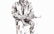 "<p><em>assadullah</em>, pencil on paper, 8.5 x 11"", 2005. (I made this drawing in Afghanistan.  Assadullah was an Afghan policeman who worked at our base.)</p>"