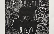 """<p>I Am</p> <p>woodcut on BFK paper</p> <p>11""""X15""""</p> <p>2014</p> <p>Private Collection</p>"""