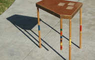 "<p style=""text-align: center;""><strong>CROQUET LEG END TABLE</strong></p>"
