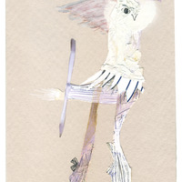 <p>Helidancer, 2014.&nbsp; Mixed media and found objects on fabriano paper, 6 x 4 inches</p>