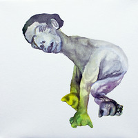 <p>Ladyface Clubfoot, 2011.  Watercolor, gouache, and ink on stretched paper, 10 x 10 inches</p>