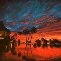 "<p style=""text-align: center;"">Kauai Sunset</p>