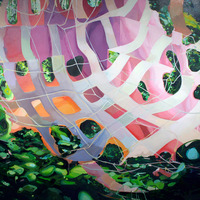 """<p><em><strong>Nets Nest,</strong></em><strong></strong>2012. Oil and acrylic on canvas, 60 x 90""""</p>"""