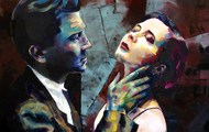 "<p>""Lynch &amp; Rossellini"" 48in. x 48in. Oil on panel. 2012. SOLD.</p>"