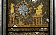 <p><em>Cosmic Creation: The 4th Hour of The Nite</em>, 1974, Etched Leaf on Masonite, 24 X 24 X 1.5 inches.</p>
