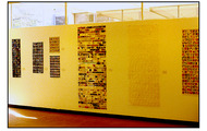 <p><strong>Solo show at School of the Society of Arts & Crafts (later: CCS)</strong> Detroit, MI 1985  (These translucent hangings were soon adhered to o.s.b./wood panels.)</p>