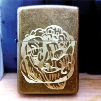 <p>'peony study 22' Hand-engraved antique brass-finish lighter. Edition of 2. 2015.</p>