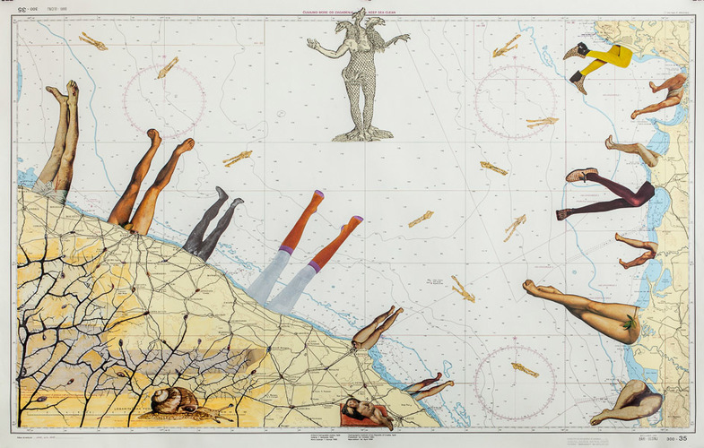 Deirdre_kelly_2015_sea_legs_collage_on_nautical_map