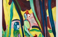 <p>Yellow Boa Canyon, Oil on Canvas, 81 x 83 inches, 2015 (Private Collection New York)</p>