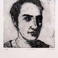 "<p style=""text-align: center;"" align=""center"">'Elspeth' Drypoint etching on copper.</p>