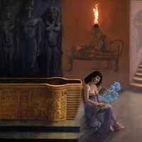 """<p style=""""text-align: center;"""">Abydos</p> <p style=""""text-align: center;"""">24"""" x 36""""</p> <p style=""""text-align: center;"""">Oil on panel</p>"""