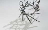 <p><em>I Made It (Series #1)</em> |&nbsp;used surgical tools and zip ties |&nbsp;h 4&rdquo; w 7&rdquo; d 7&rdquo; | 2009 | <strong>SOLD</strong></p>