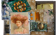 """<p>Victorian Lady with Hat, 2016 (10""""x 6"""")</p> <p>SOLD</p> <p>AA Open House</p>"""