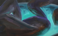 <p><em>Dipping</em> oil on canvas    12 x 24 inches</p>