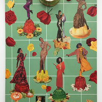 <p>Genevieve Gaignard<br /><em>A Woman's Place</em>, 2018<br />Collage on Panel<br />36 x 24 inches</p>