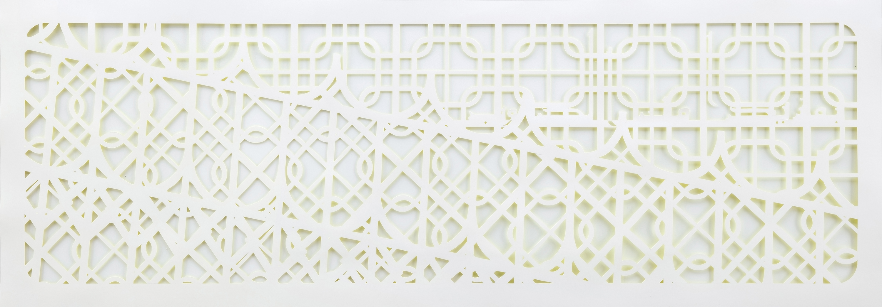 <p><em>Azbakeya (with a little more love)</em>, 2018. 26 x 74 Inches. Mixed media on hand cut paper.</p>