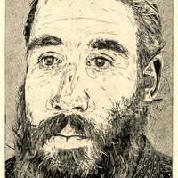 """<p align=""""center"""">Man From the Netherlands</p> <p align=""""center"""">7""""by6"""" etching on 15""""by11"""" paper. 3rd state. 2018.</p>"""