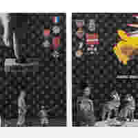 <p>Genevieve Gaignard<br /><em>Honorary Suspect (1619)</em>, 2019<br />Mixed Media on Panel<br />16 x 12 x 2 inches each</p>