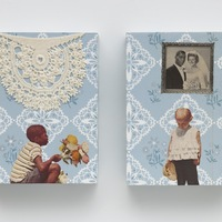 <p>Genevieve Gaignard<br /><em>How I Met Your Mother, 2020&nbsp;</em><br />Mixed media on Panel<br />8 x 6 x 1.75 inches&nbsp;</p>