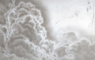 "<p>Clouds #1, 2020, acrylic on canvas, 27 x 36""</p>"