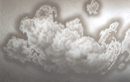 """<p>Clouds #6, 2020, acrylic on canvas, 54 x 72""""</p>"""