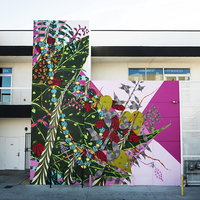 <p>Grow, 2018, Spray paint and latex paint&nbsp;24 x 26 Feet | 7.5 x 8 Meters (Painted in Lancaster, California) Commissioned by Museum Of Art And History (MOAH)</p>