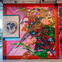 <p>Under Lock And Key, The Caged Bird Sings, 2019, Acrylic and mdf on wall, Los Angeles, CA, Commissioned by Facebook</p>